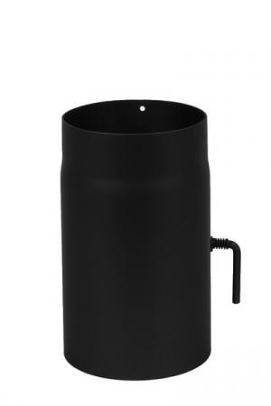Tubo 250mm acciaio MONOPARETE 2 MM CON VALVOLA A FARFALLA – Ø150 MM